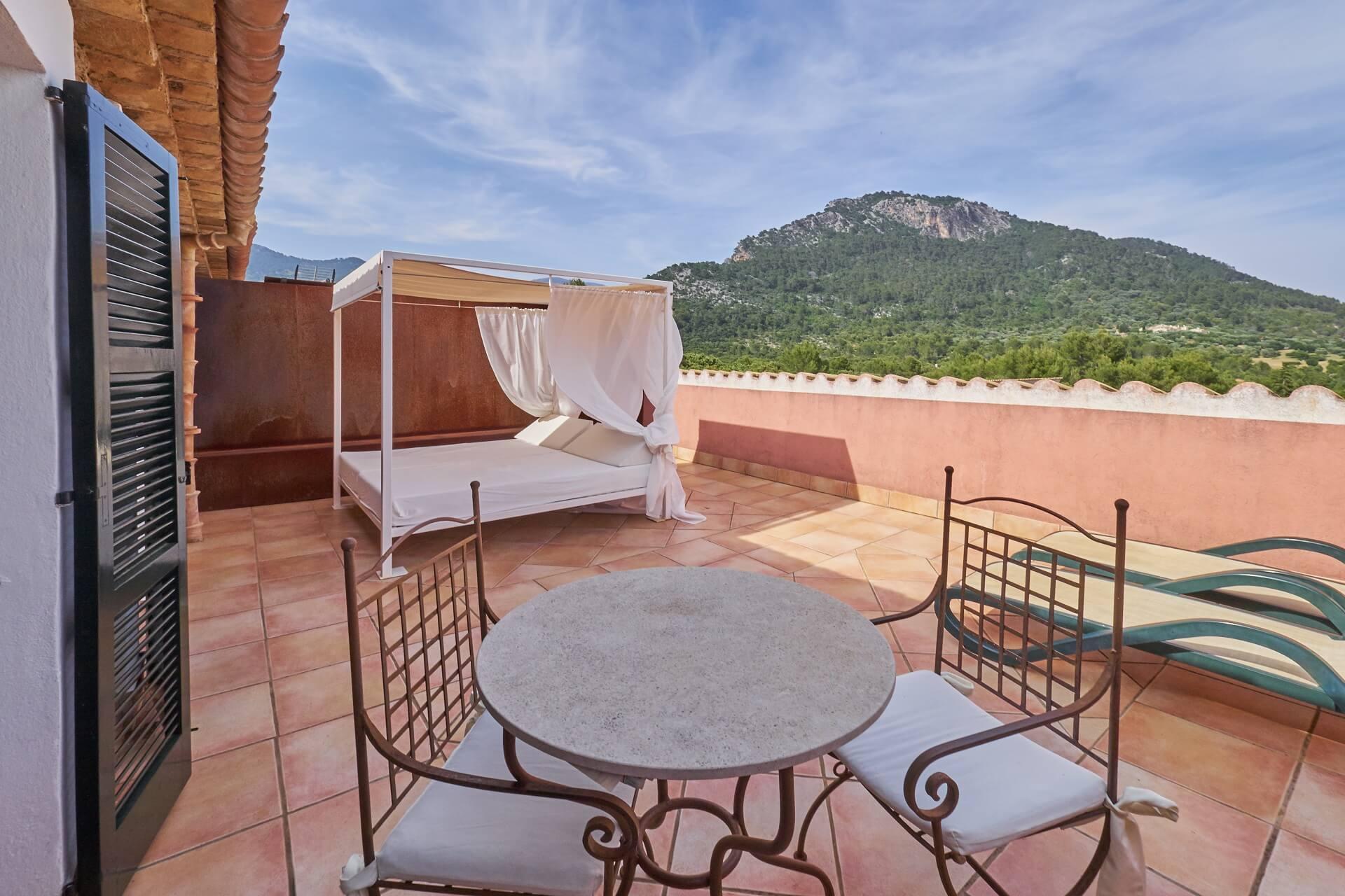 Hotel Finca Binibona - Junior Suite terrace