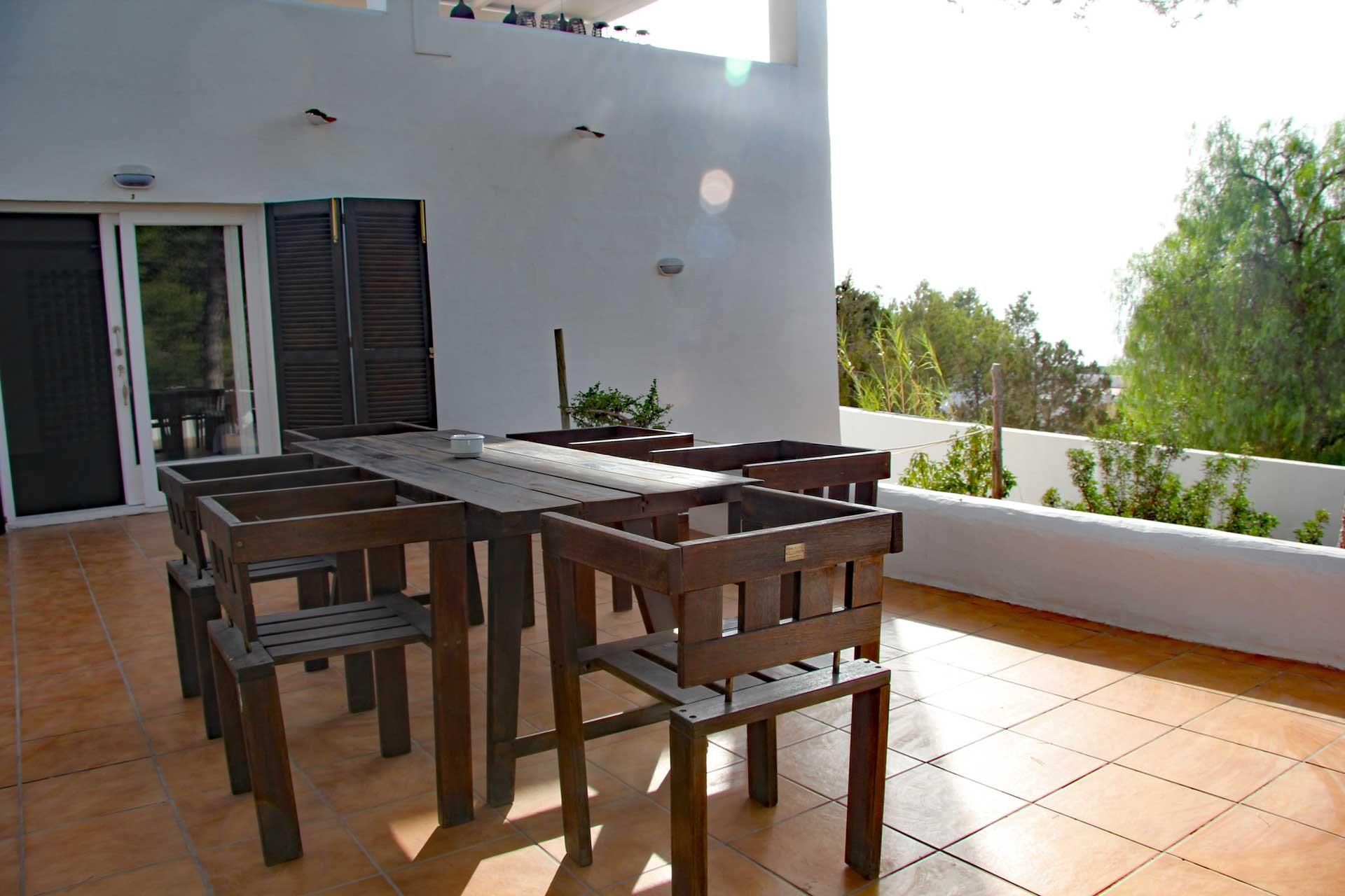 Villa Can Sankisha - Eingang und Gäste-Terrasse