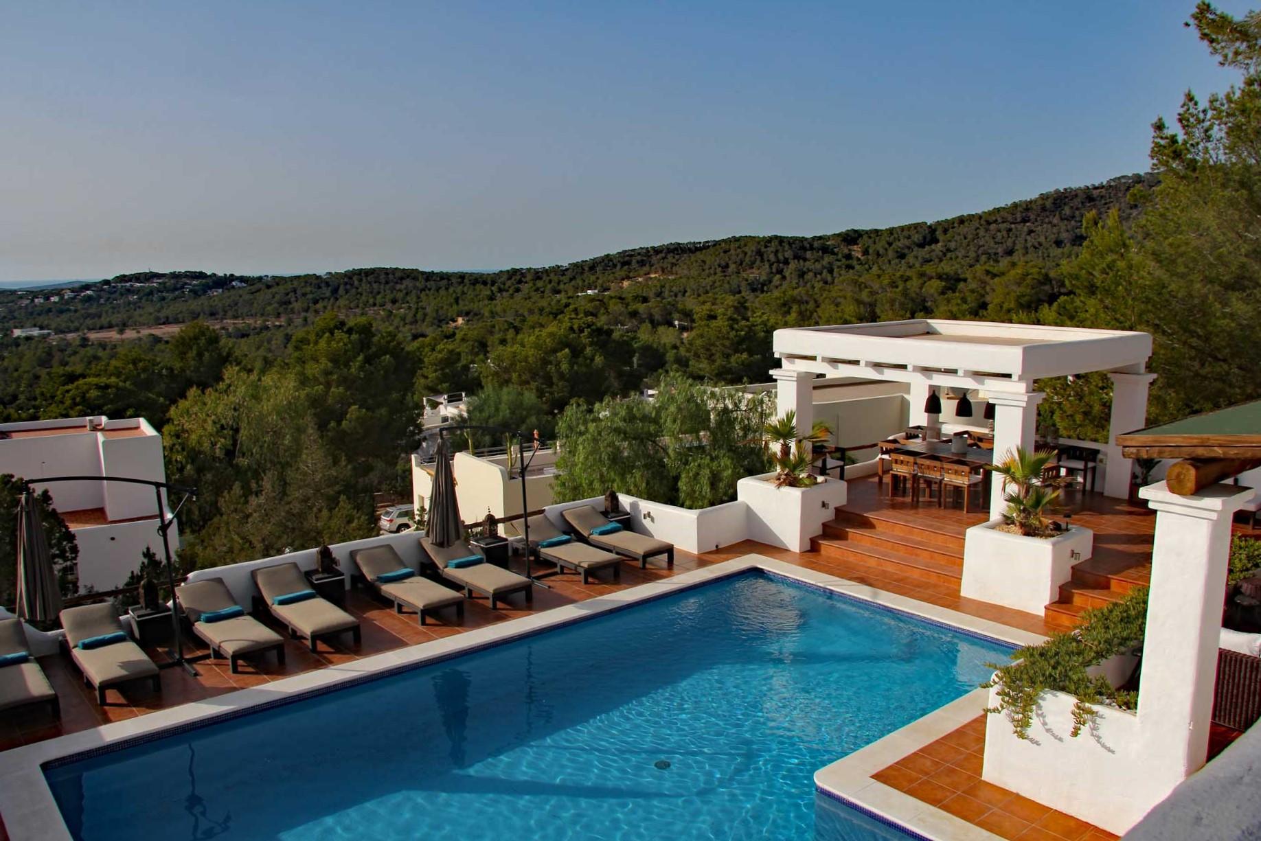 Villa Can Sankisha - Blick von der Dachterrasse