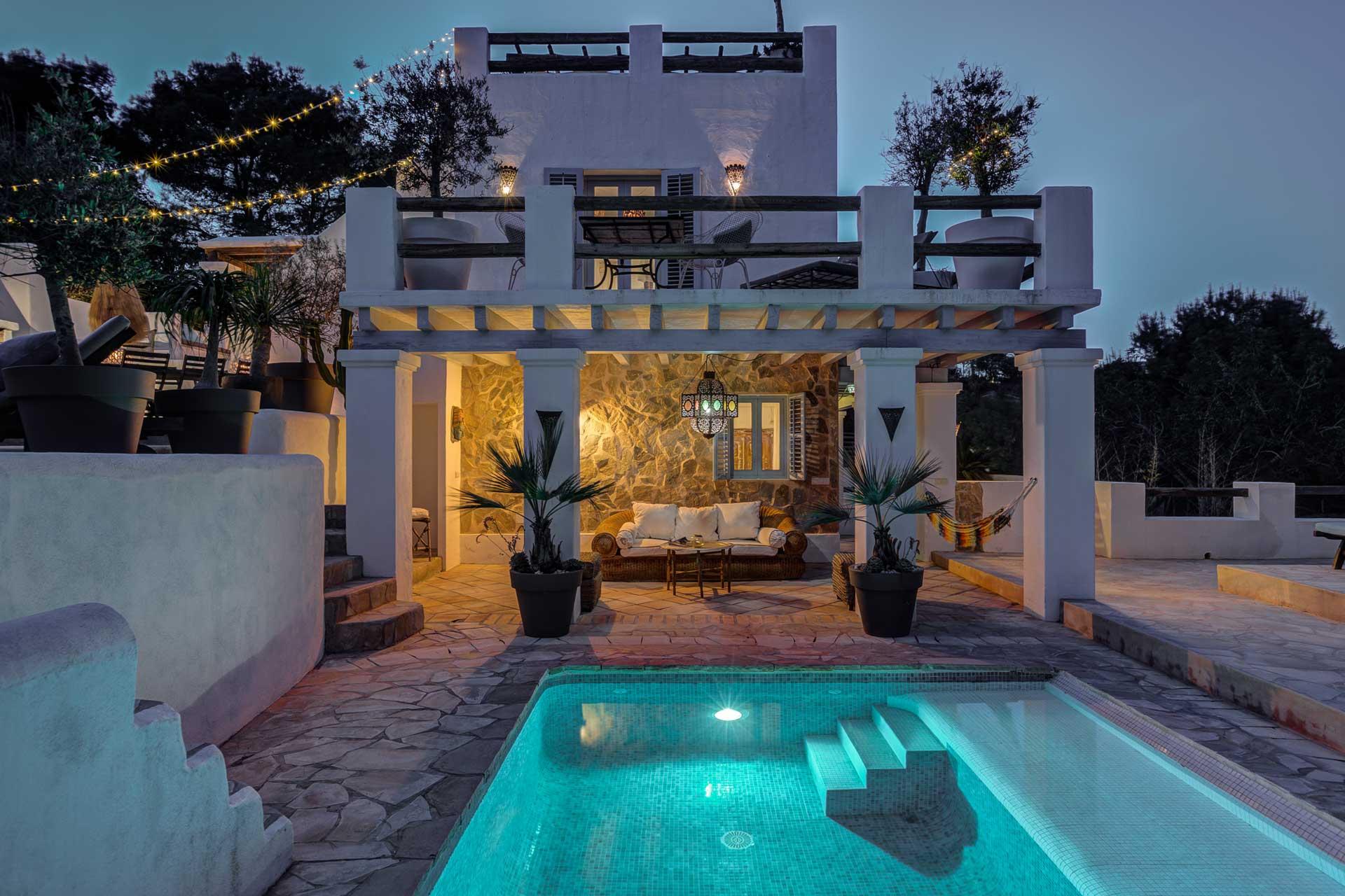 Villa Can Terra - bei Nacht