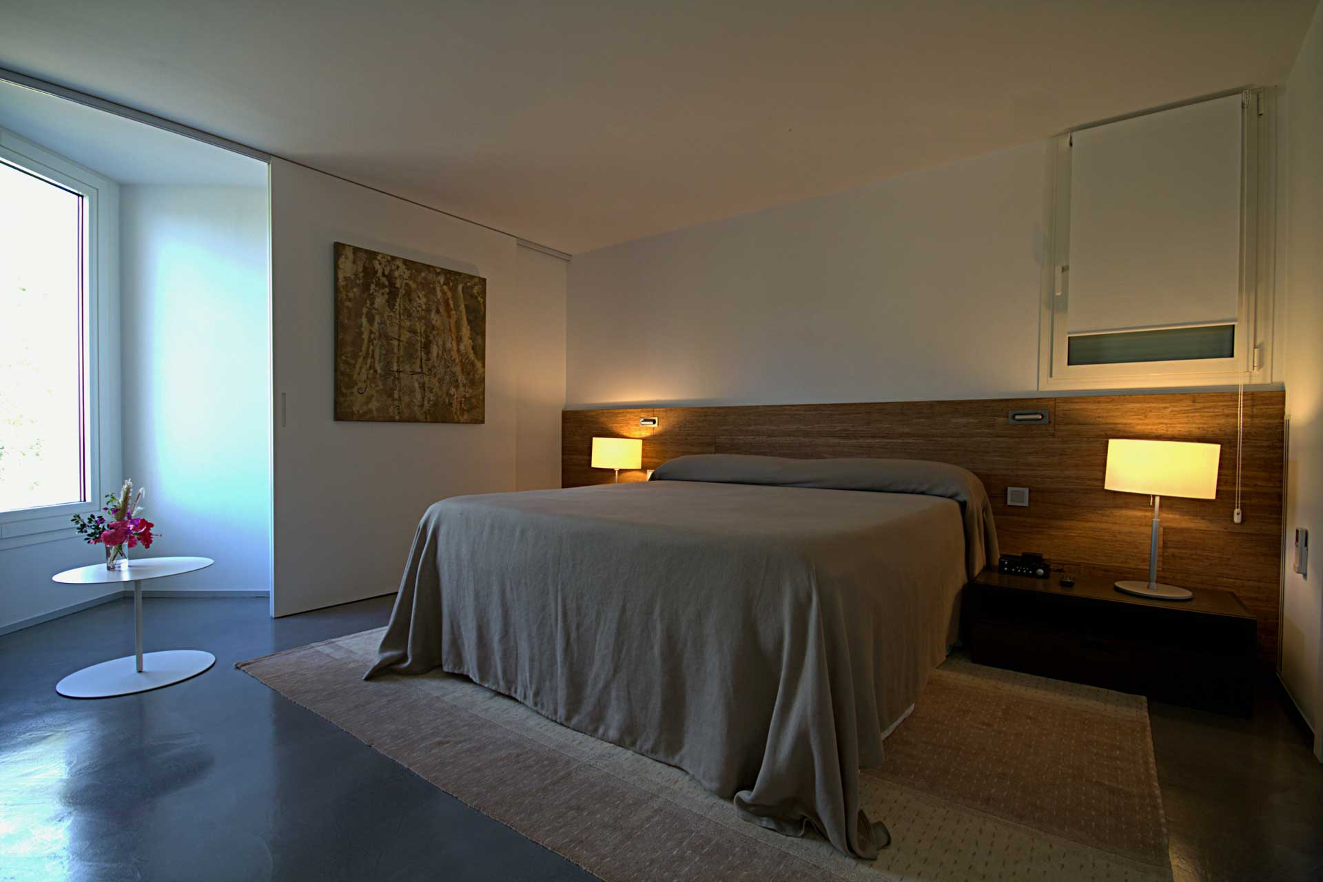Villa Infinty Ibiza Vista Alegre - Bedroom upper floor to the garden