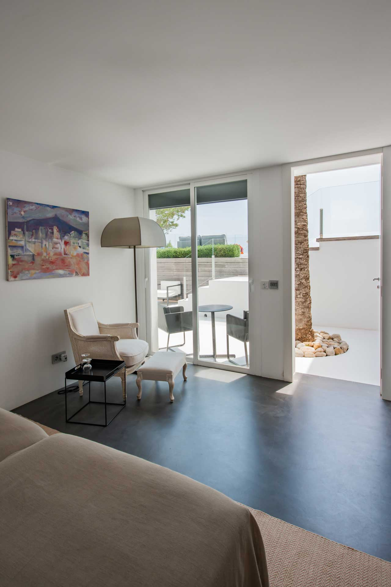 Villa Infinty Ibiza Vista Alegre - Bedroom ground floor to the terrace
