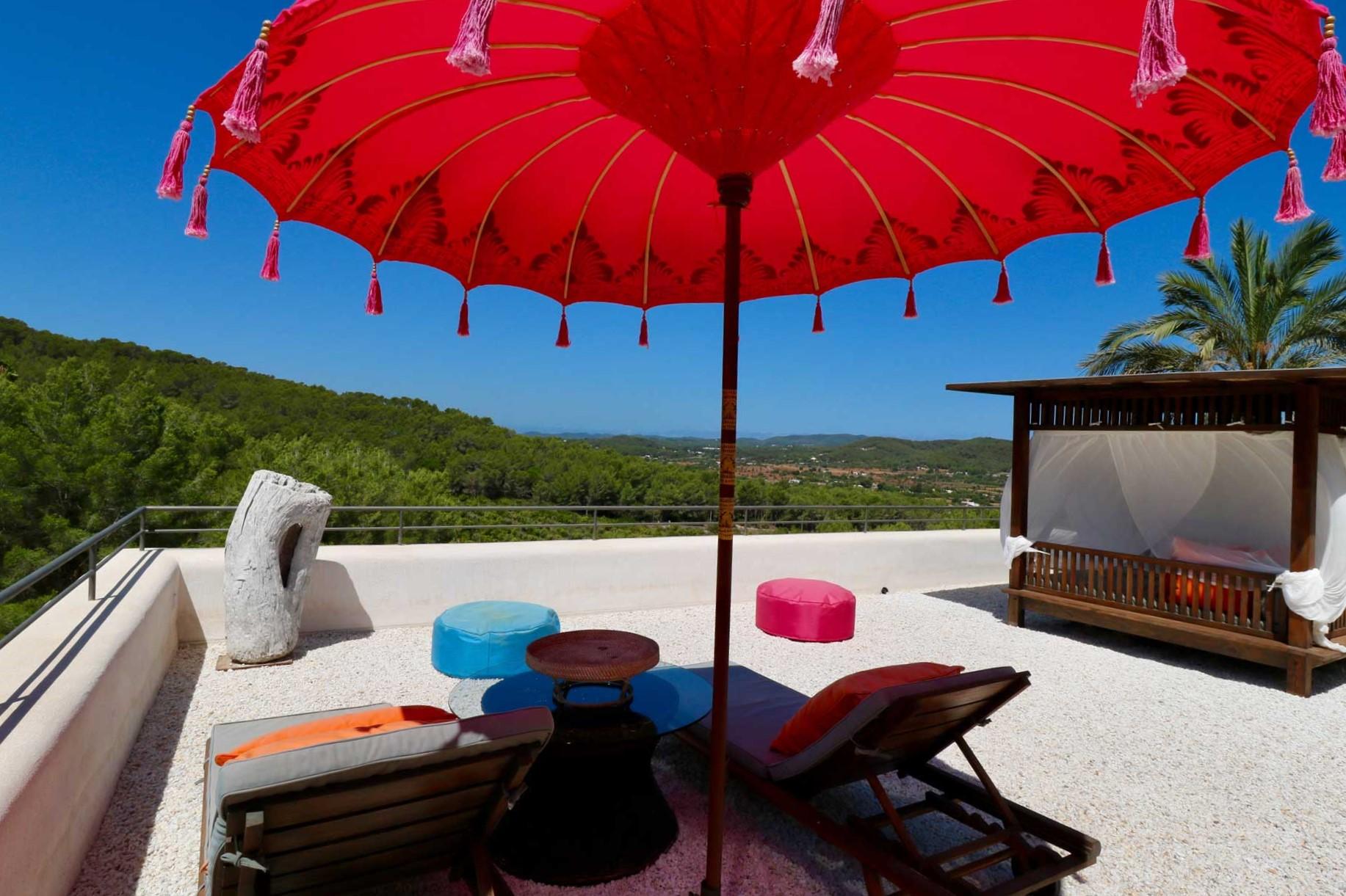 Villa Can Gecko AV Ibiza - Dachterrasse