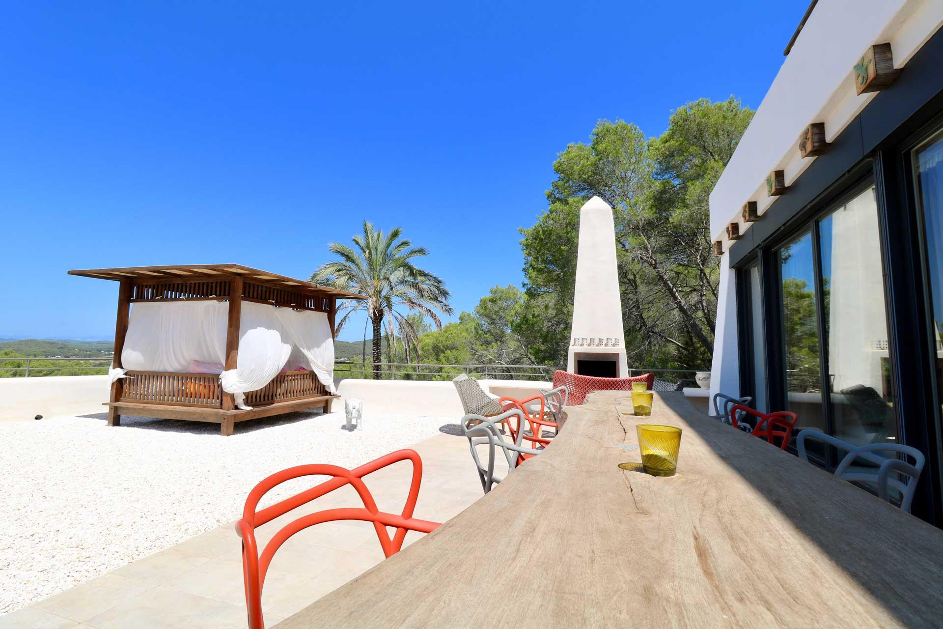 Villa Can Gecko AV Ibiza - Dachterrasse Master Suite