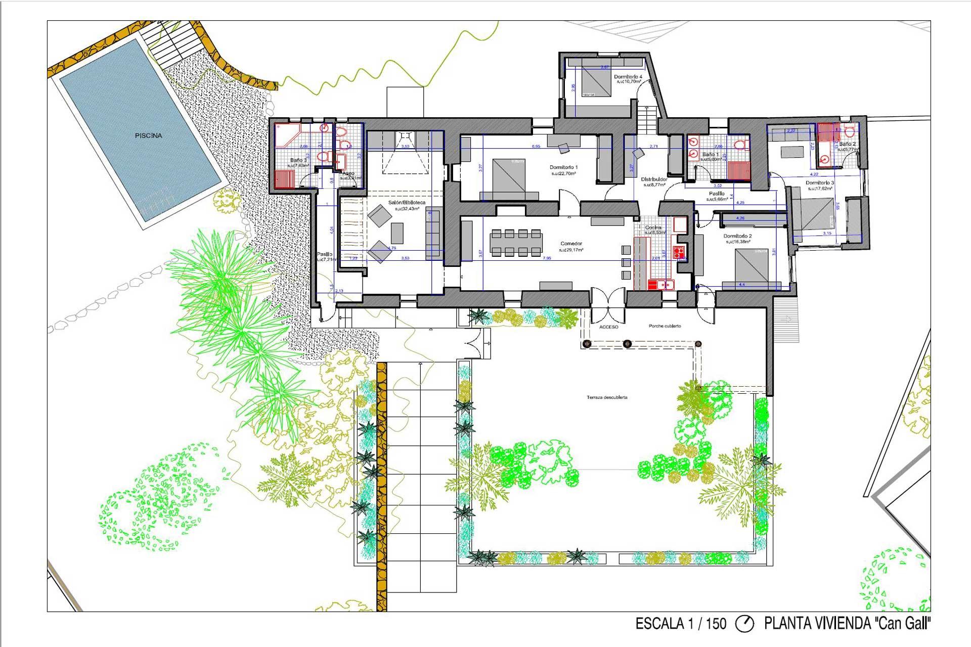 Finca Can Gall Ibiza - Floor plan