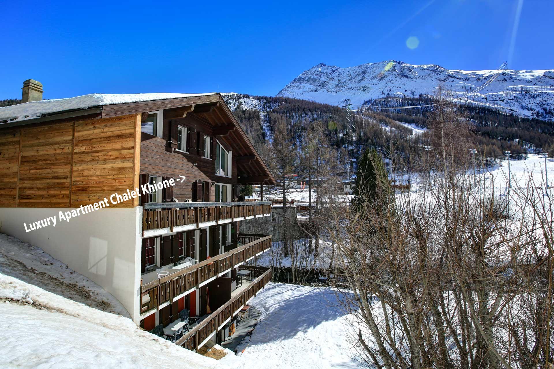 Luxus Appartement Chalet Khione Saas-Fee - Lage