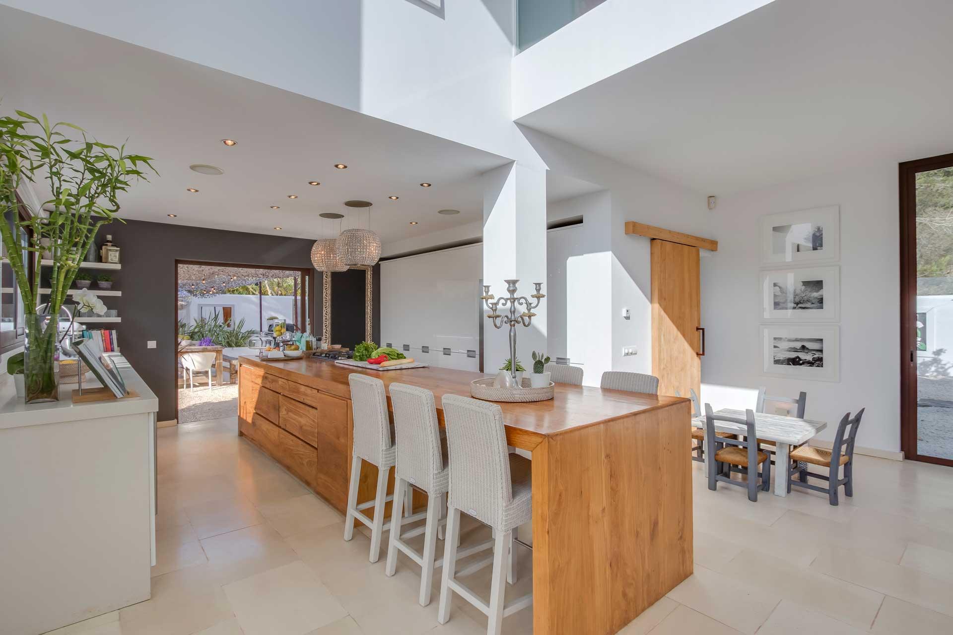 Villa Can Buu Ibiza - Open-plan kitchen