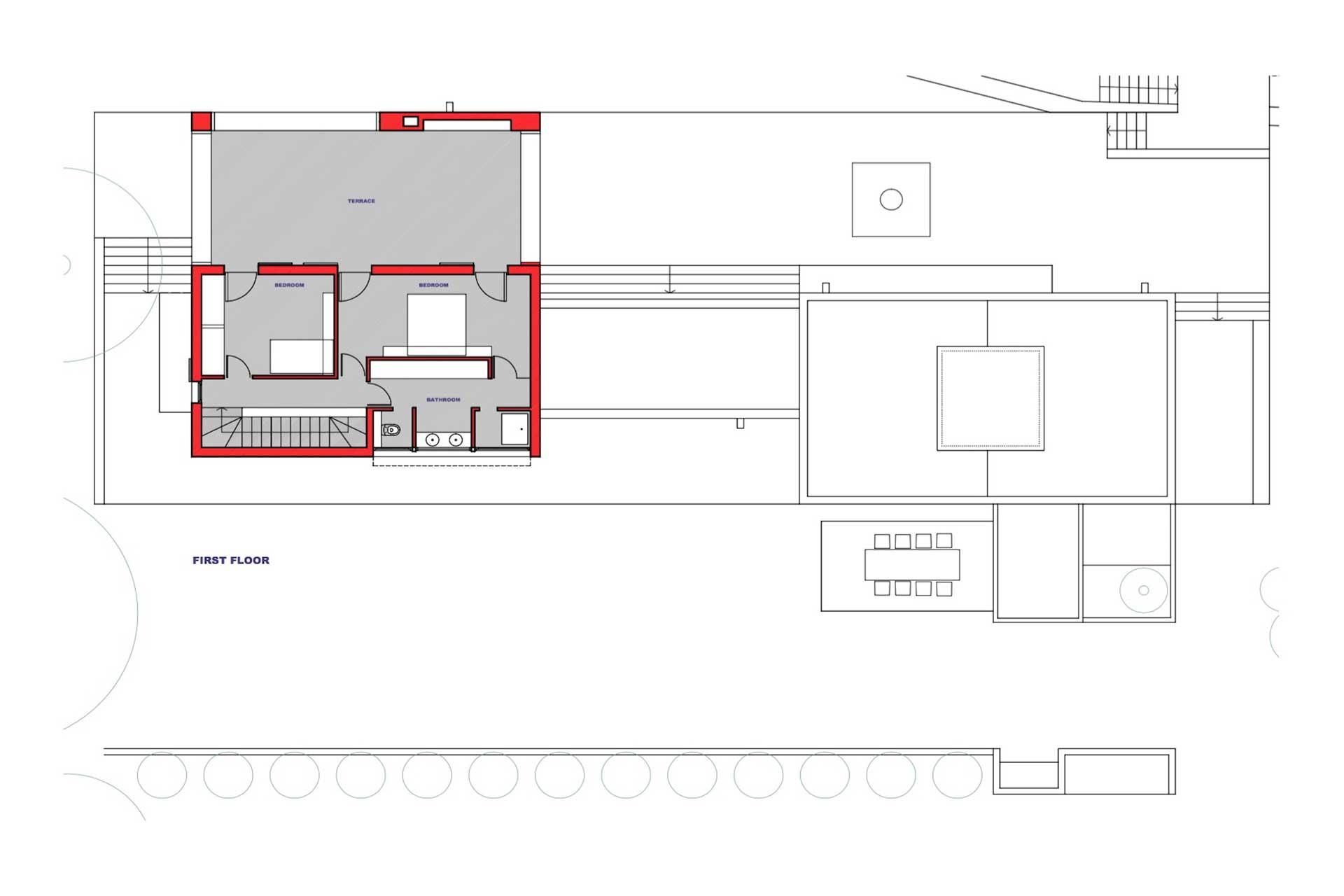Villa Poeta - Floor plan main building