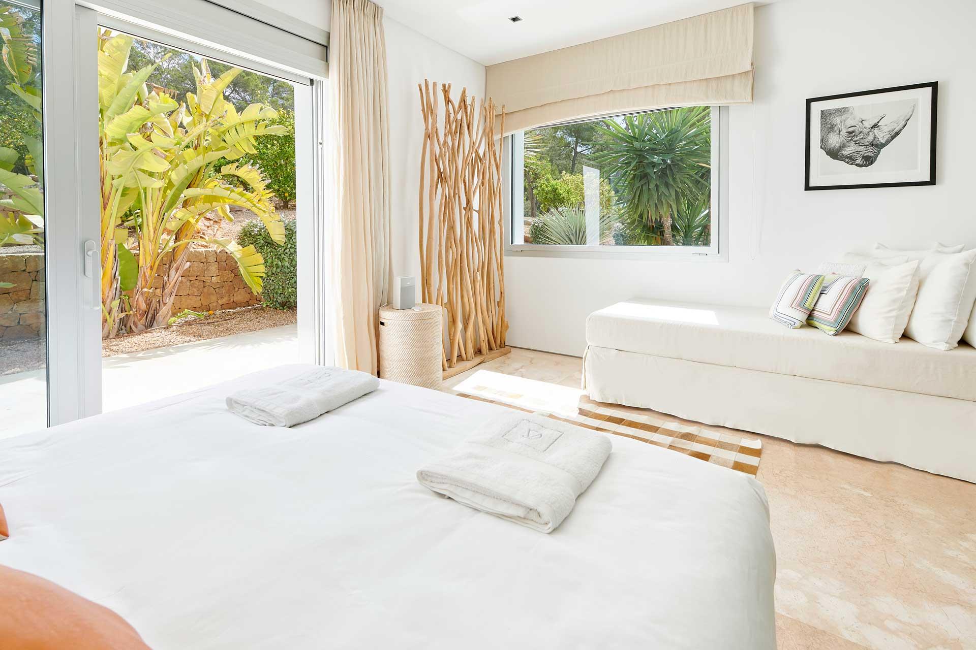 Villa CA Ibiza - Schlafzimmer 3 mit Bad en Suite
