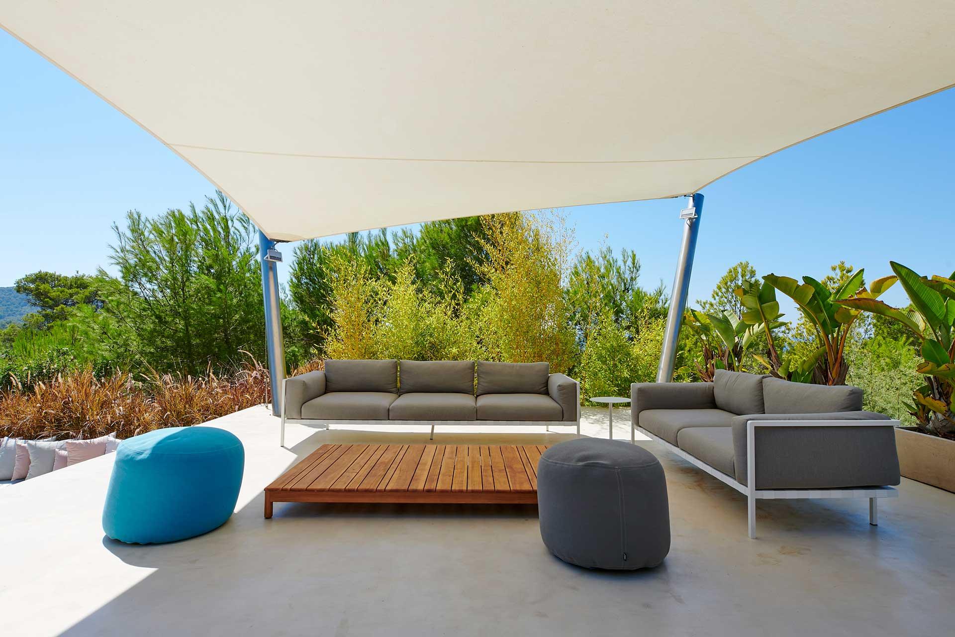Villa CA Ibiza - BBQ Bereich mit Sitzecke