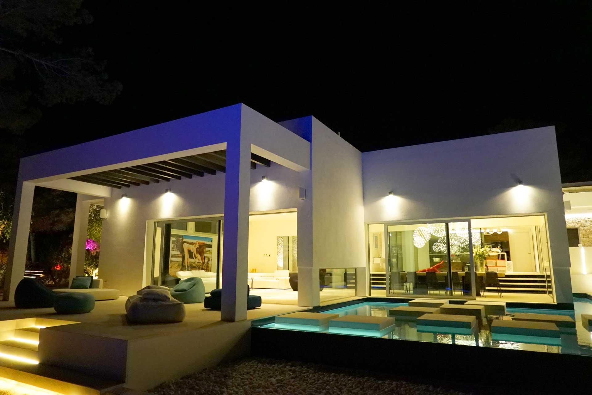Villa CA Ibiza bei Nacht