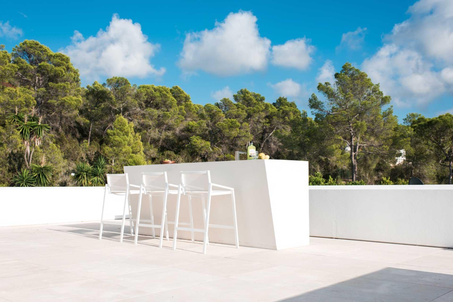 Villa CVilla CA Ibiza - Dachterrasse mit BarA Ibiza