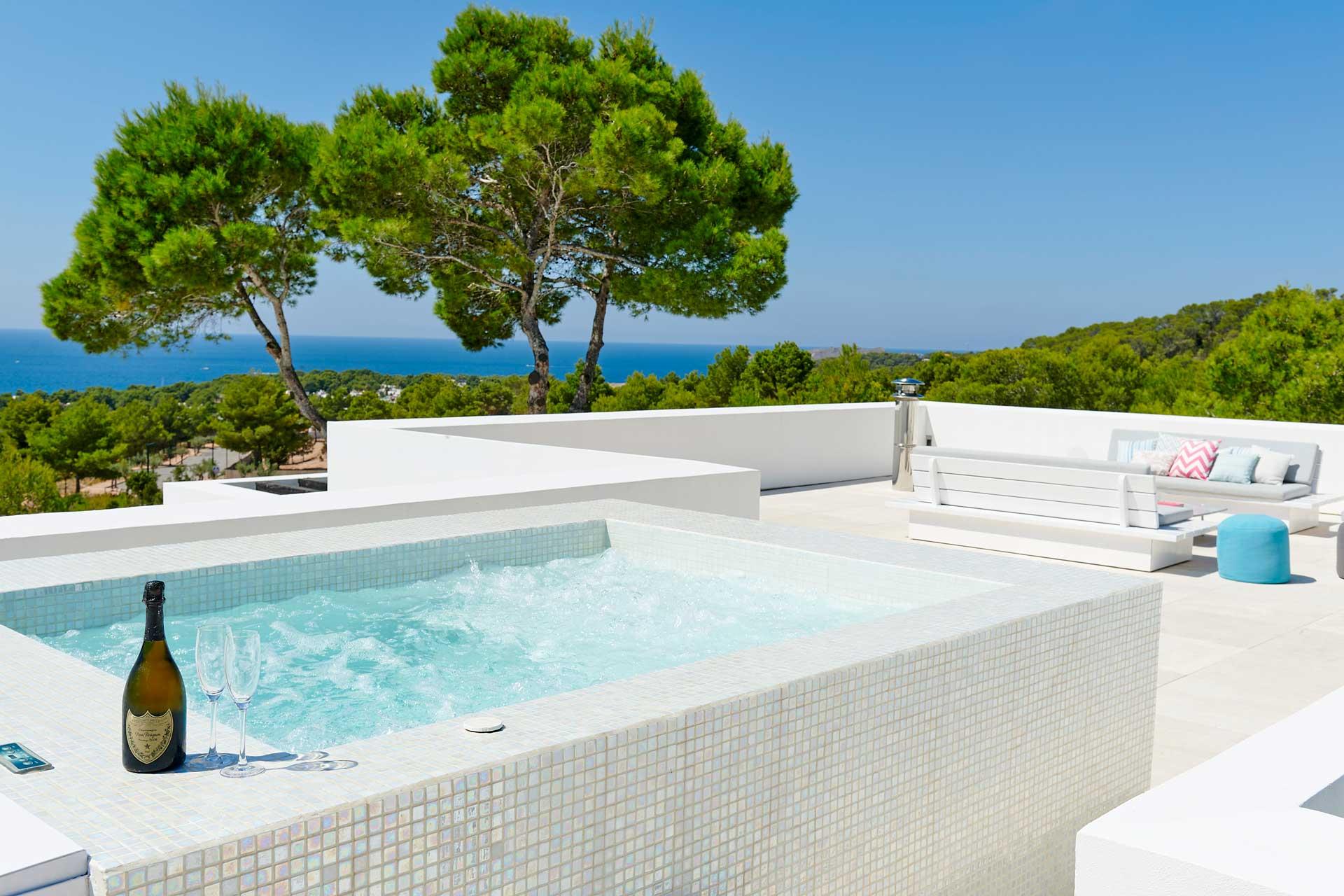 Villa CA Ibiza - Dachterrasse mit Whirlpool