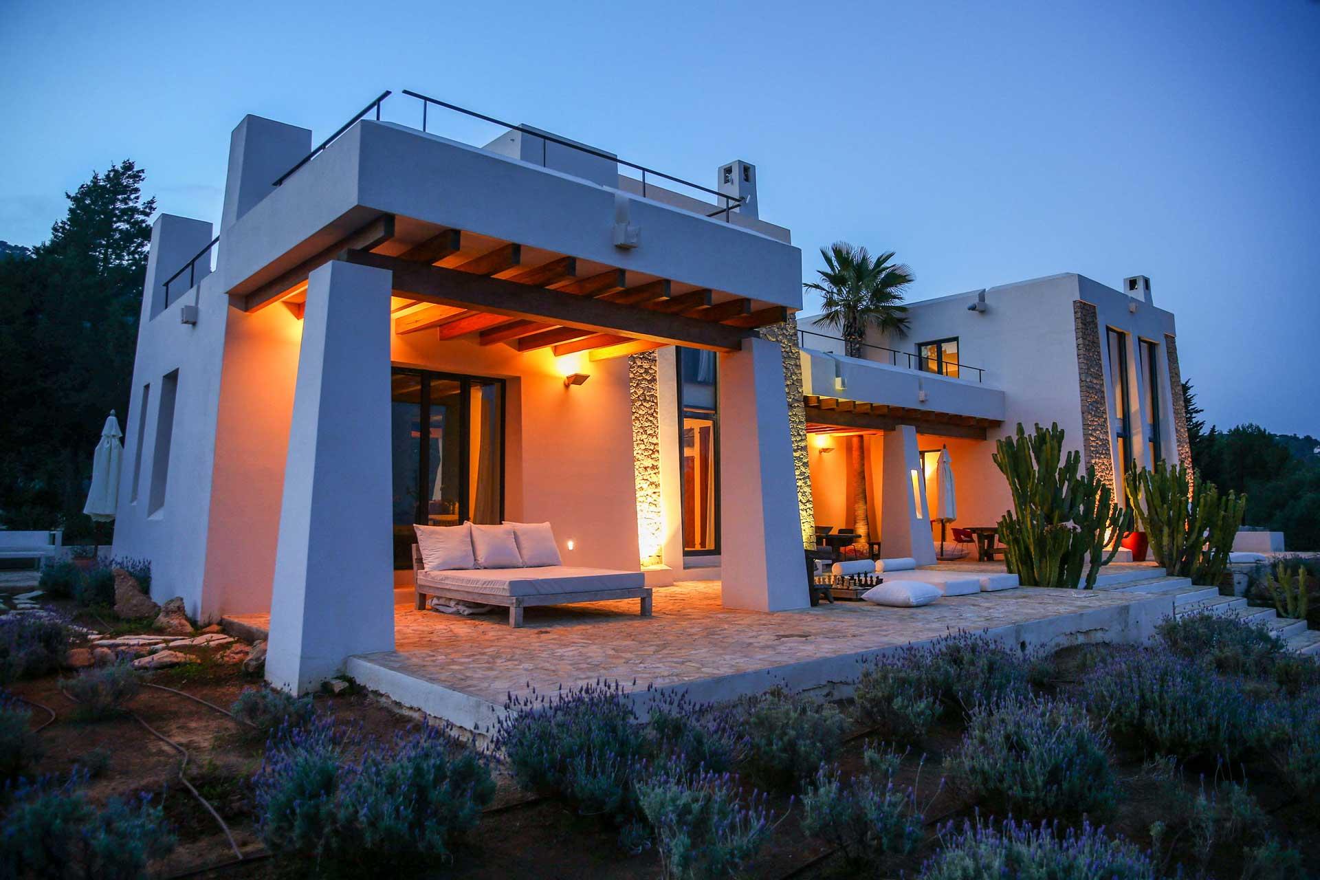Villa Can Teresita by night