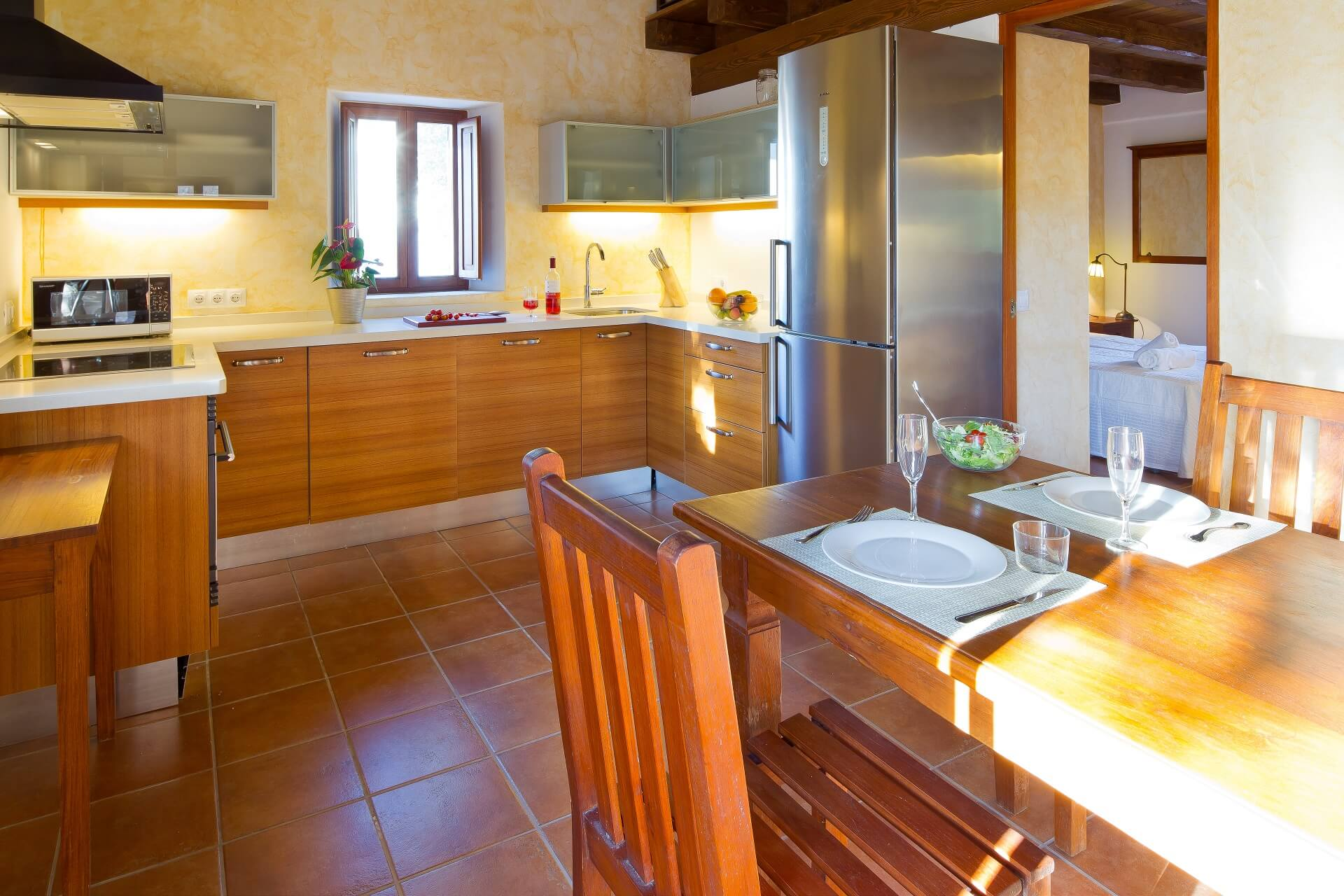 Villa CASES N1 - Kitchen with dining area
