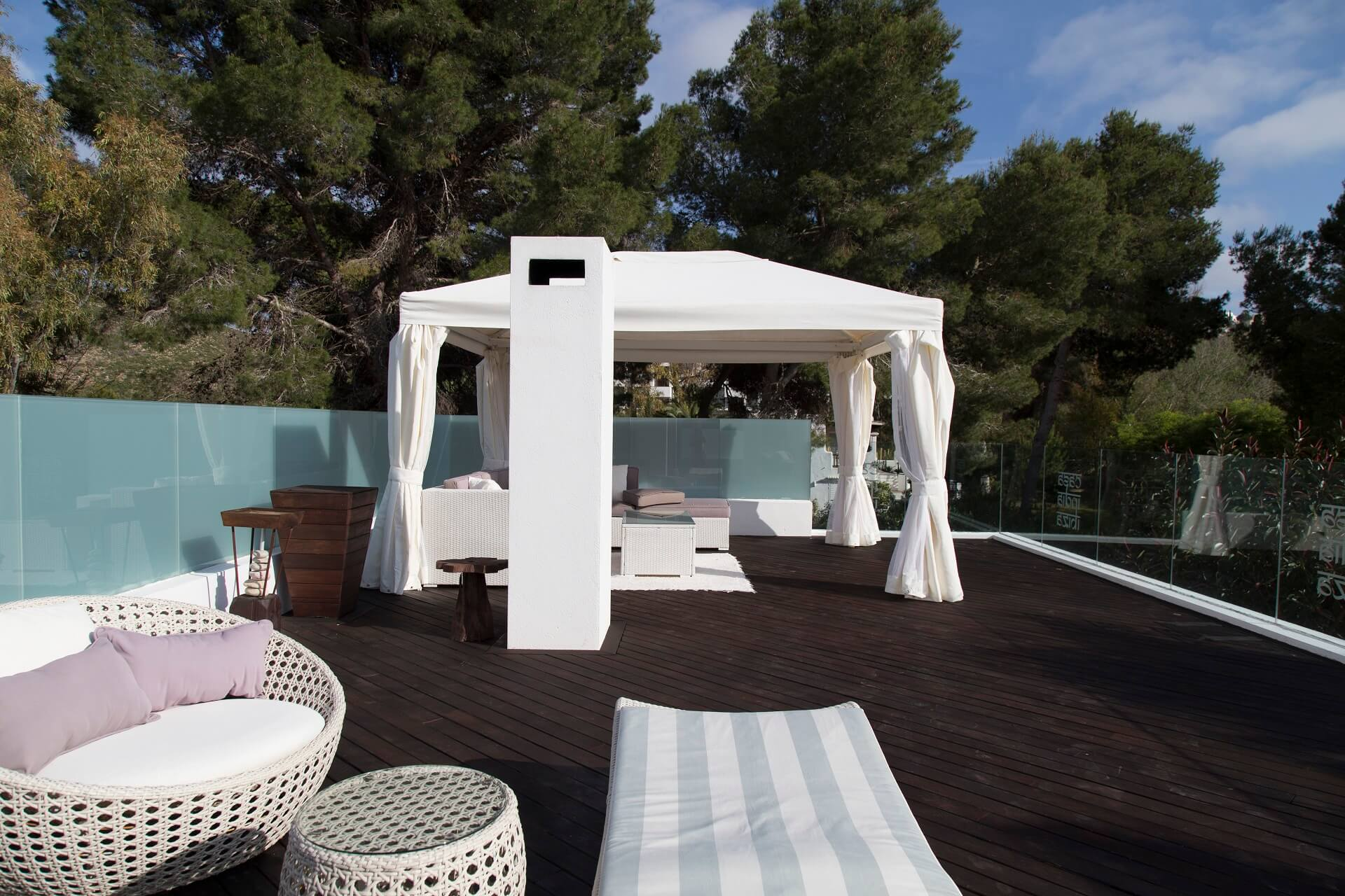 Casa India Ibiza - Roof terrace with chill-out area
