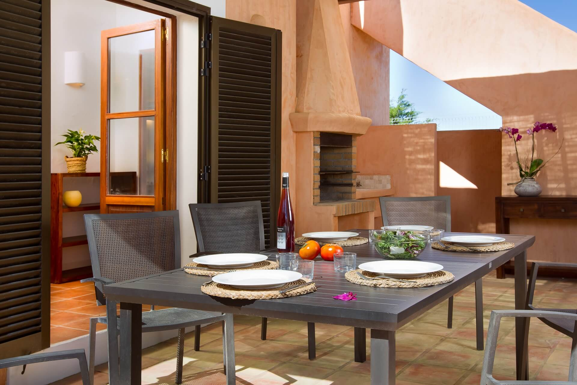Villa CASES N3 - Terrace with fireplace
